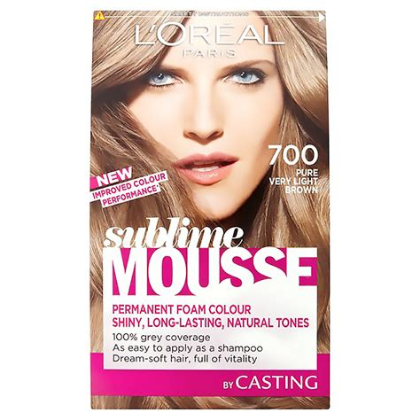 very light brown hair color new l oreal paris sublime mousse 700 pure very light brown