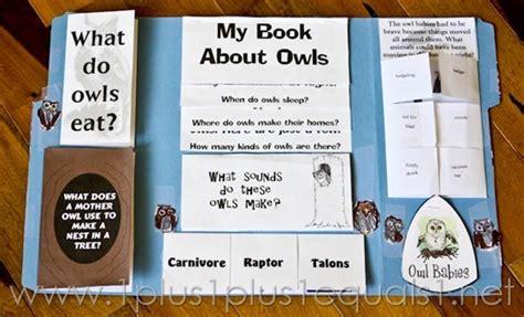 printable owl lapbook owl unit study and lapbook 1 1 1 1