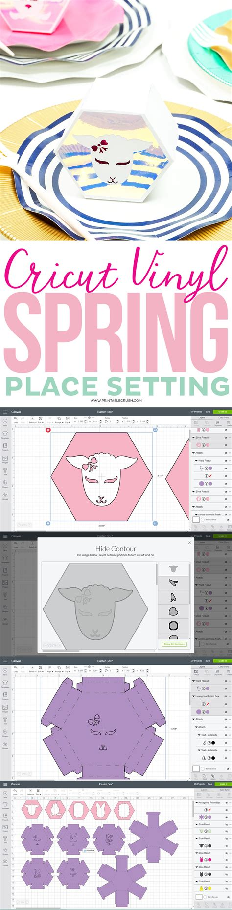 cricut printable vinyl tutorial gorgeous cricut vinyl spring place setting printable crush