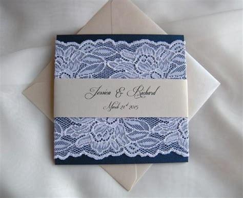 Wedding Invita by Wedding Invitation Navy Wedding Invitation White Lace