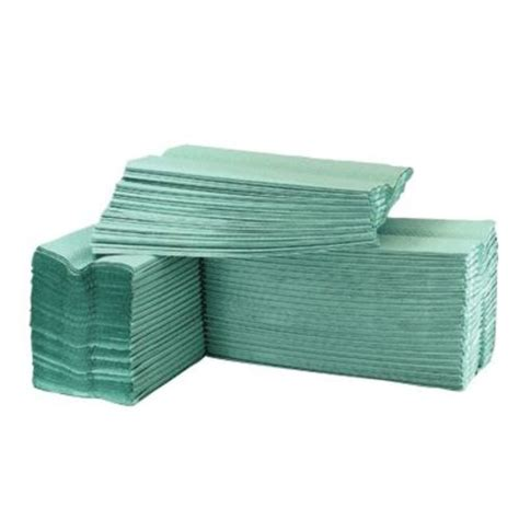 Z Fold Paper Towels - z fold recycled paper towel green 1ply 6000 in paper