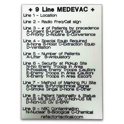 Performance Lighting Line Card Glow In The 9 Line Medevac Re Factor Tactical