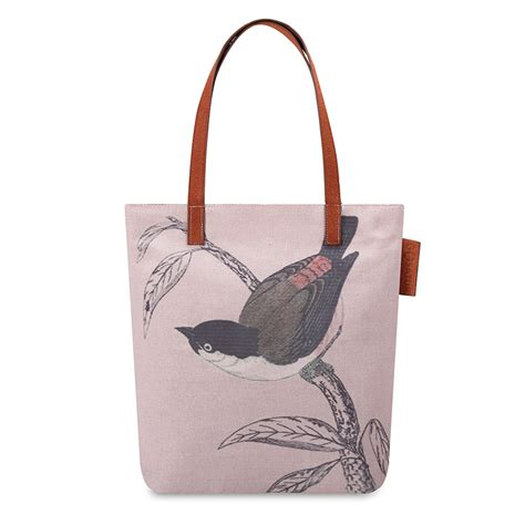 Tote Bag Canvas 002 illustrated bird printed canvas tote bags traditional