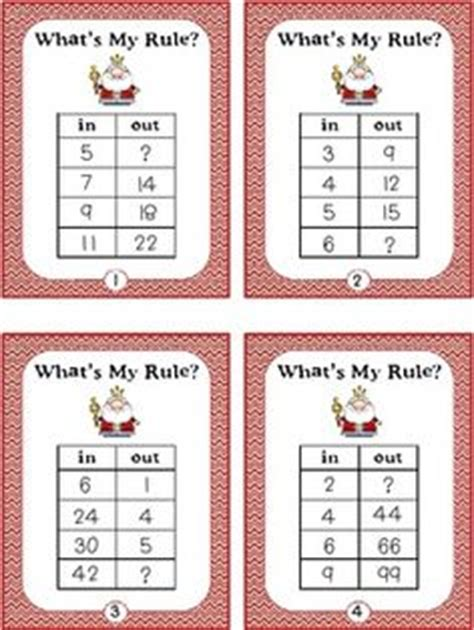 pattern rule that relates the input to the output 1000 images about task cards on pinterest task cards