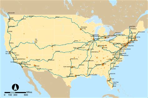 passenger map usa amtrak