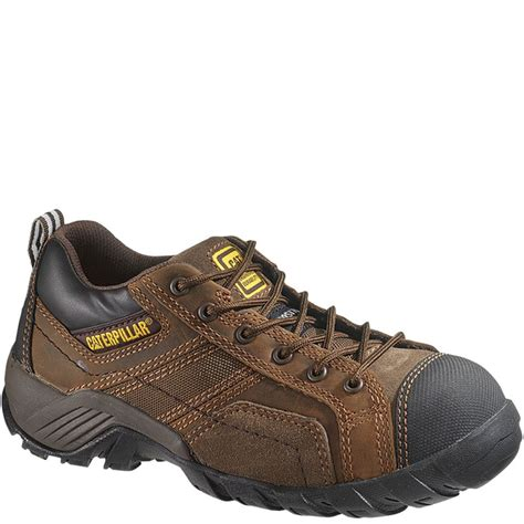 Cat Safety Brown 90087 caterpillar s argon ct safety shoes brown