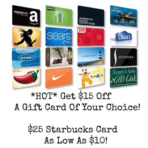 Starbucks Discount Gift Cards - hot score 15 off an already discounted gift card starbucks amc theaters more
