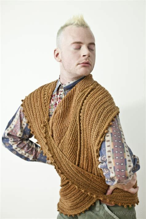 stephen west knits madame portrait knitting product photography with
