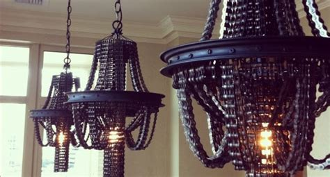 Dining Room Light With Chain Cool Upcycling Design Recycled Bicycle Chain Chandeliers