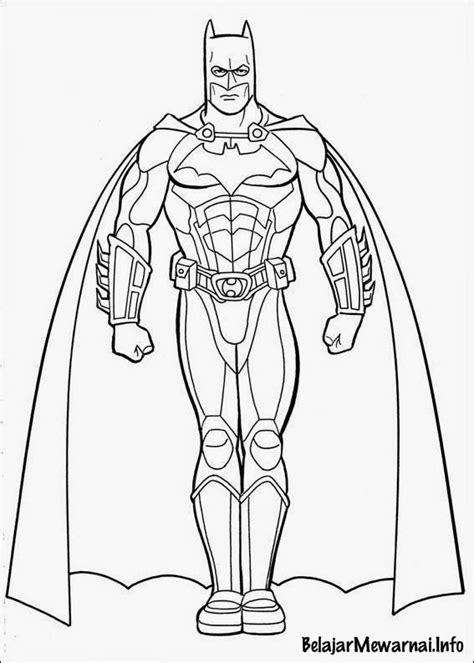 Gambar Mewarnai Batman ~ Gambar Mewarnai Lucu
