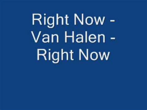 8 Songs I Right Now by Right Now Halen Right Now