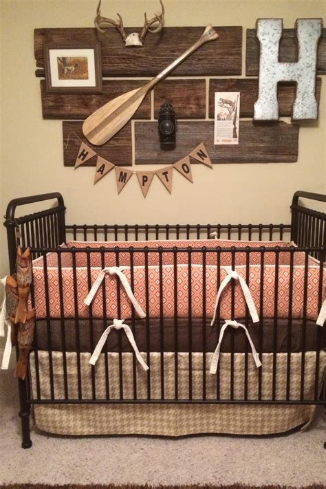 rustic crib bedding orange diamond crib bedding in a rustic nursery orange