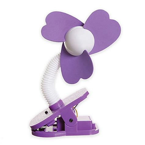 clip on fan for bed buy dreambaby 174 clip on fan in purple white from bed bath