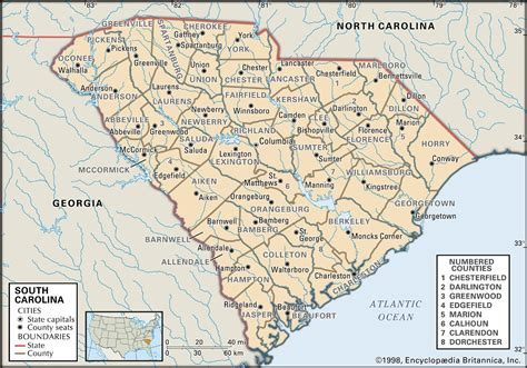 carolina counties map state and county maps of south carolina