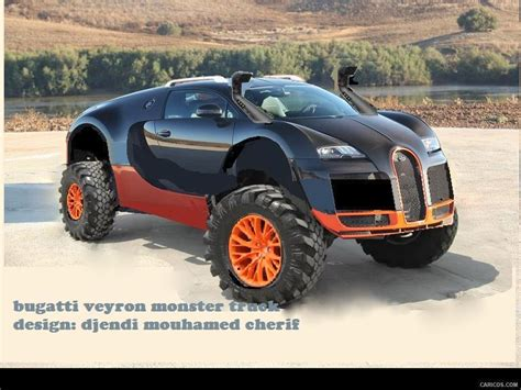 bugatti pickup truck bugatti veyron monster truck design by djendi mouhamed