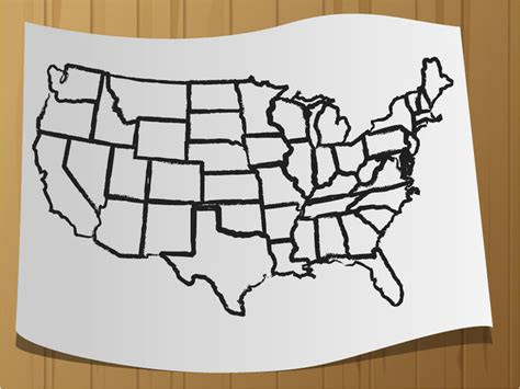 how to draw a map how to draw a map of the usa 9 steps with pictures