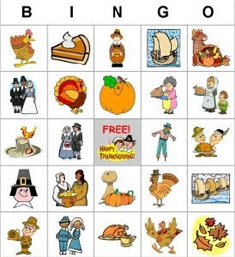 free printable thanksgiving picture bingo cards brujitadelux bingo