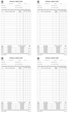 ayso card template printable lineup cards softball lineup printable big
