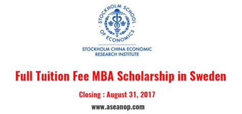 Free Mba Programs In Sweden sweden archives asean scholarships opportunities