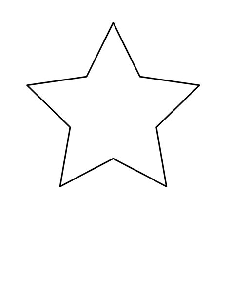 star simple shapes easy coloring pages for toddlers