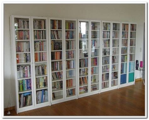 ikea billy bookcases with glass doors best 25 bookcase with glass doors ideas on