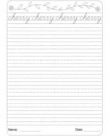cursive writing worksheet 3