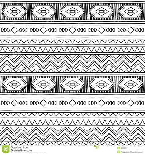 easy tribal pattern black and white black and white doodle style seamless tileable tribal