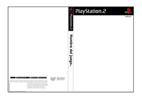 template for cover template playstation 2 cover by juanky on deviantart