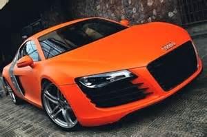 Matte Orange Audi Matte Orange Audi R8 Automotive Design
