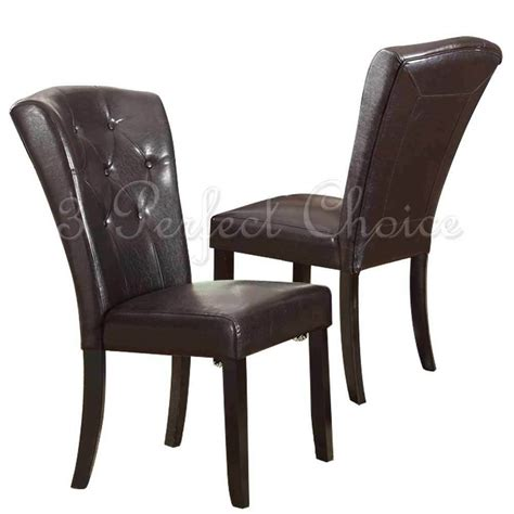 leather dining side chairs set of 2 dining side chair upholstered espresso faux