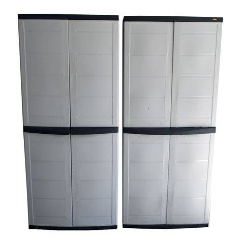 plastic storage cabinets with doors plastic storage cabinets ebth