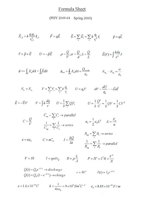 electromagnetic induction grade 11 grade 12 physics formula sheet pictures to pin on pinsdaddy