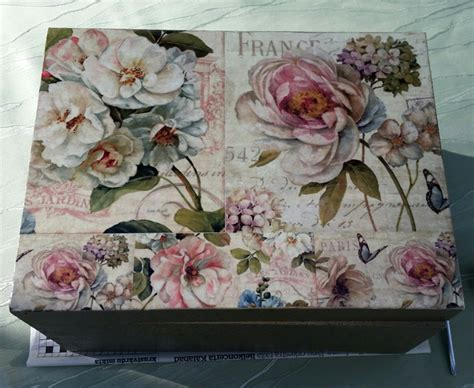 Decoupage Picture - diy project shabby chic decoupage storage box