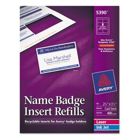 Bettymills Avery 174 Name Badge Inserts Avery 5390 Avery 5384 Name Badge Template