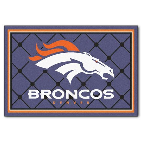 denver broncos rug fanmats denver broncos 5 ft x 8 ft area rug 6572 the home depot