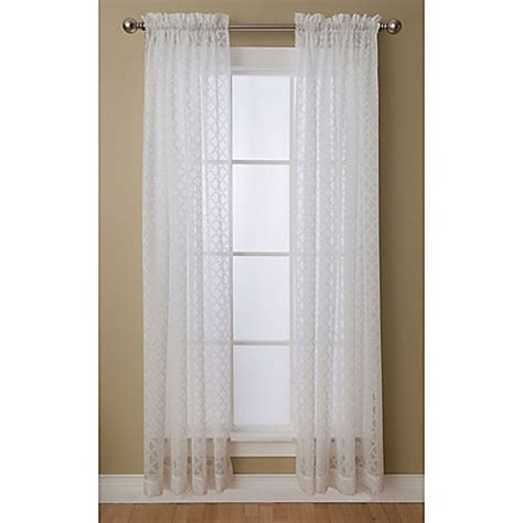 Glenbrook Mall Gift Cards - glenbrook rod pocket sheer window curtain panel bed bath beyond