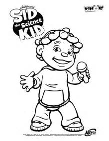 kid coloring sid the science kid coloring pages az coloring pages