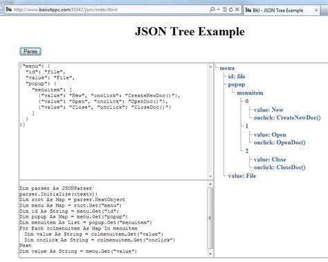 tutorial php rest json b4j tutorial server online json tree exle b4x