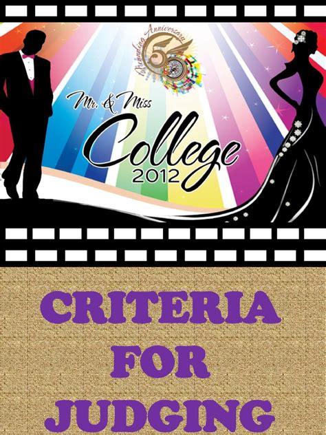 design competition judging criteria for judging mr ms college 2012