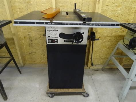 rockwell model 9 table saw rockwell 9 quot table saw 120 volt k c auctions mpls