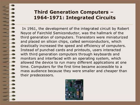which generation of computer made use of integrated circuit highlights in computer history