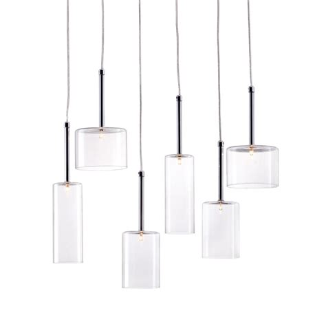 modern multi light pendants shop zuo modern hale multi light clear glass cylinder