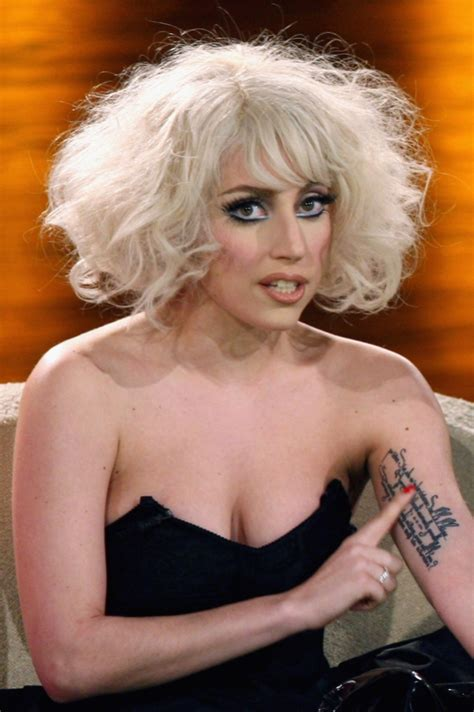 lady gaga arm tattoo gaga tattoos only on left side of