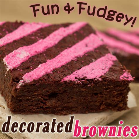 Brownie Decorating Ideas by Decadent Decorated Brownies Tip Junkie