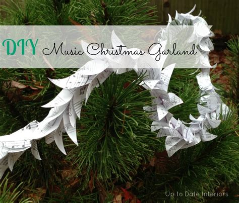 diy music christmas garland easy cheap and fun project