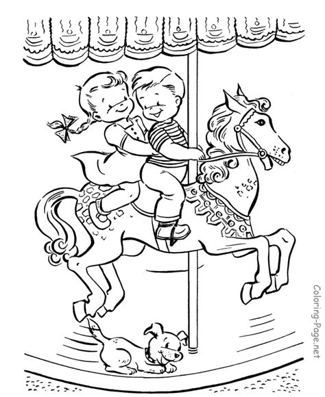 Horse Coloring Page Merry Go Round Coloring Pages Of Merry