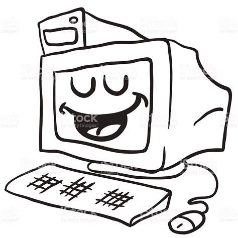 imagenes navideñas animadas blanco y negro ordenador blanco y negro feliz illustracion libre de