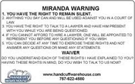 printable rights card handcuff warehouse miranda warning card