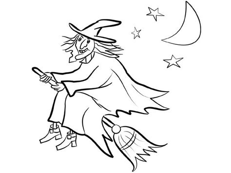 Coloring Page Witch Posted In Halloween Holidays And Festivals Witch By by Coloring Page Witch