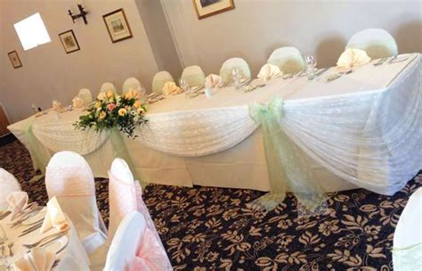 Chair Cover Hire   Sash Bows Hire   Wedding Table Swagging